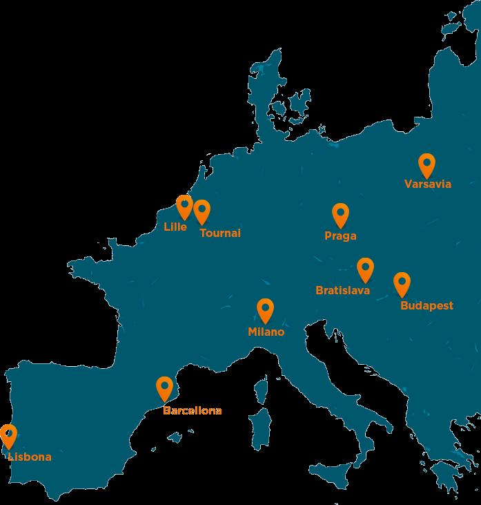 Mappa Cofidis in Europa
